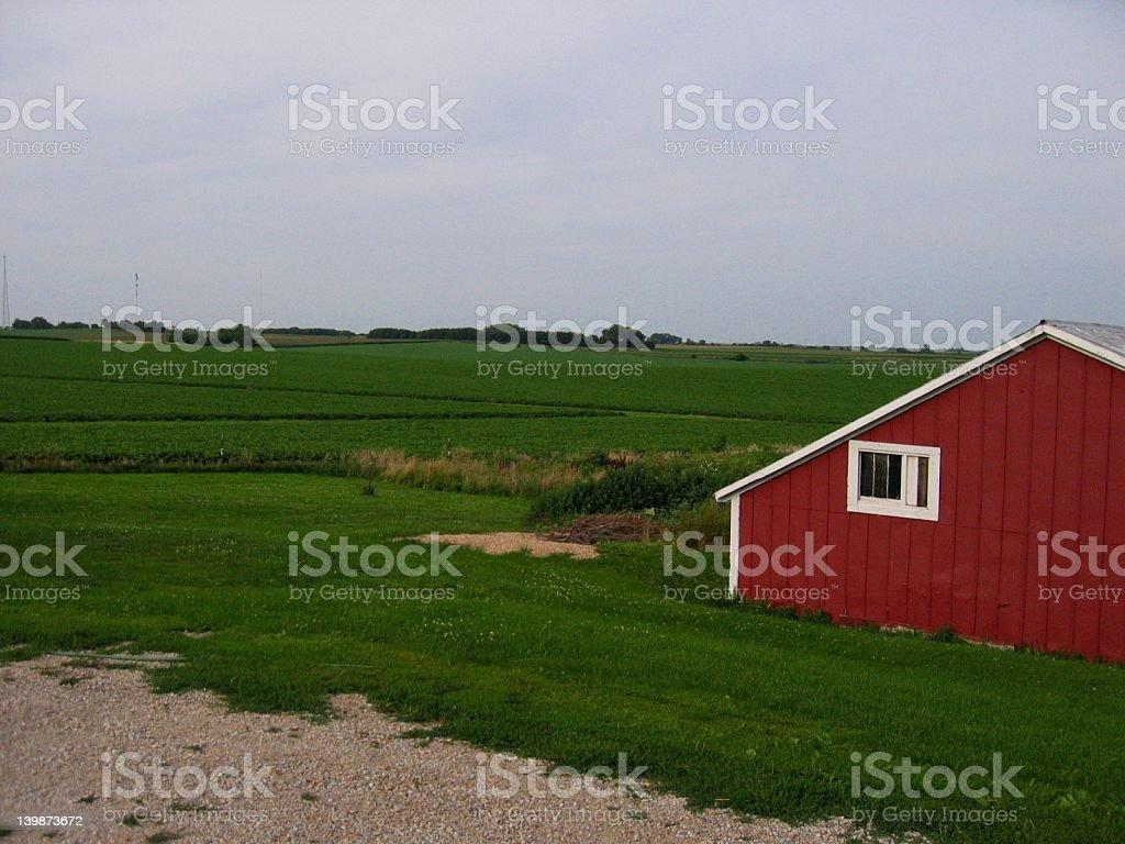 Red Barn stock photo