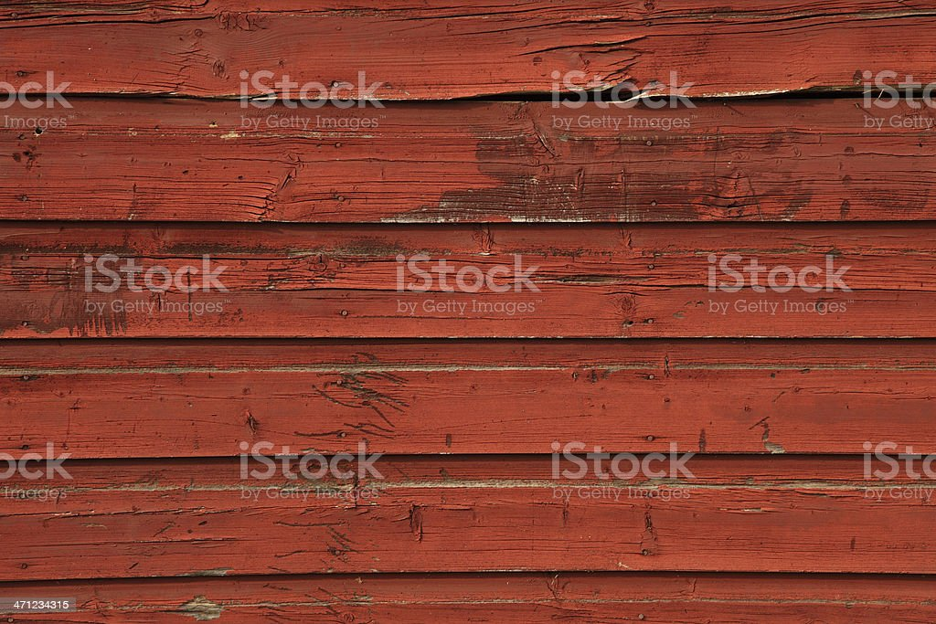 Red barn siding horizontal background with rough texture stock photo