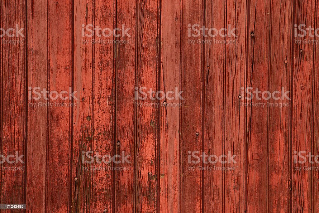 Red barn siding vertical background with rough texture stock photo