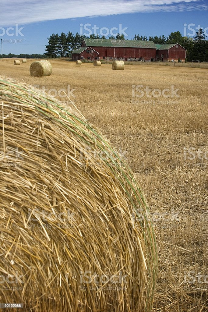 Red Barn Straw royalty-free stock photo