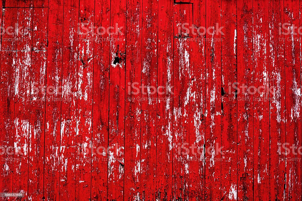 Red Barn Wall with Texture stock photo