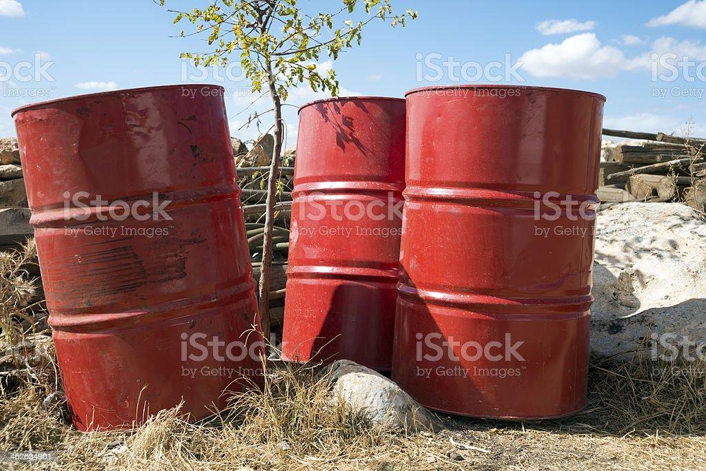 Red barrel stock photo