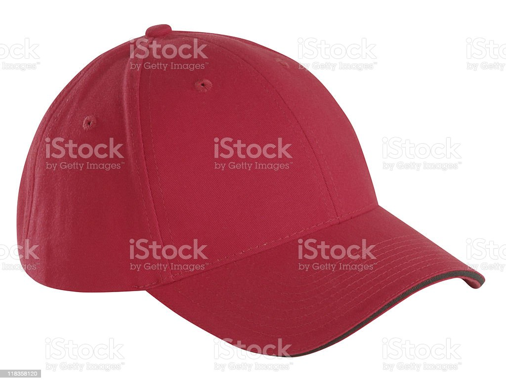Red Baseball Cap stock photo