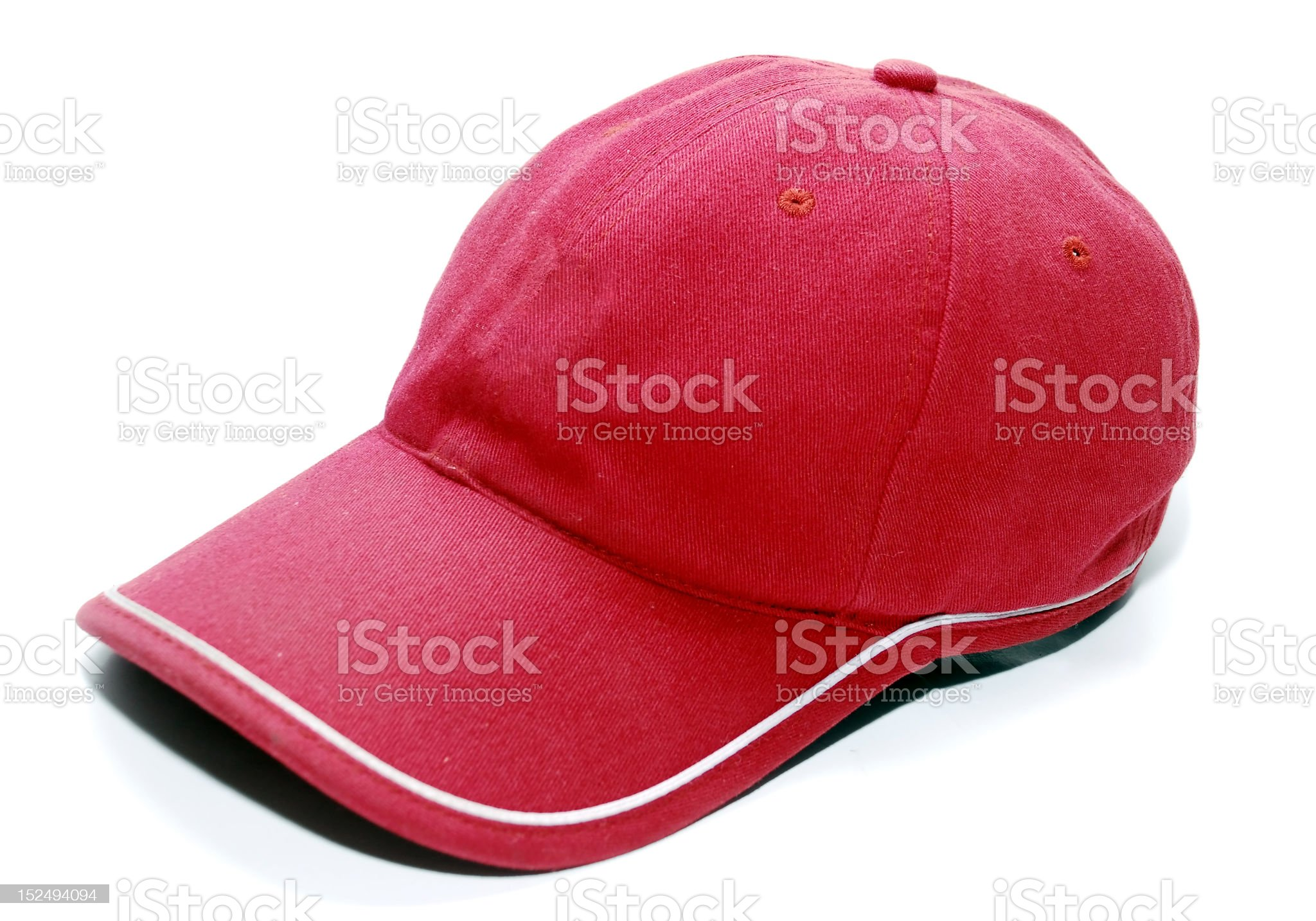 Red Baseball Cap royalty-free stock photo