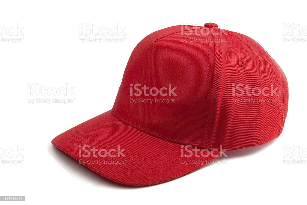 Red Baseball Cap royalty-free stock photo