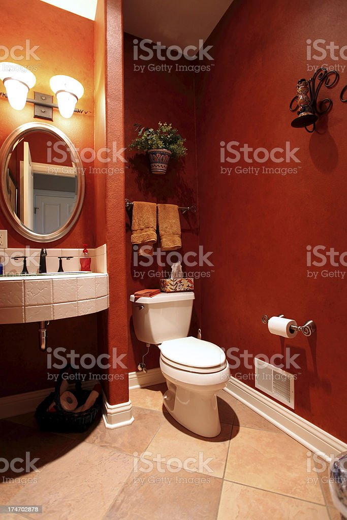 Red Bathroom royalty-free stock photo