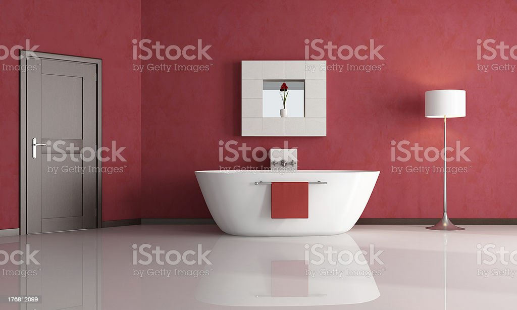 red bathroom royalty-free stock photo