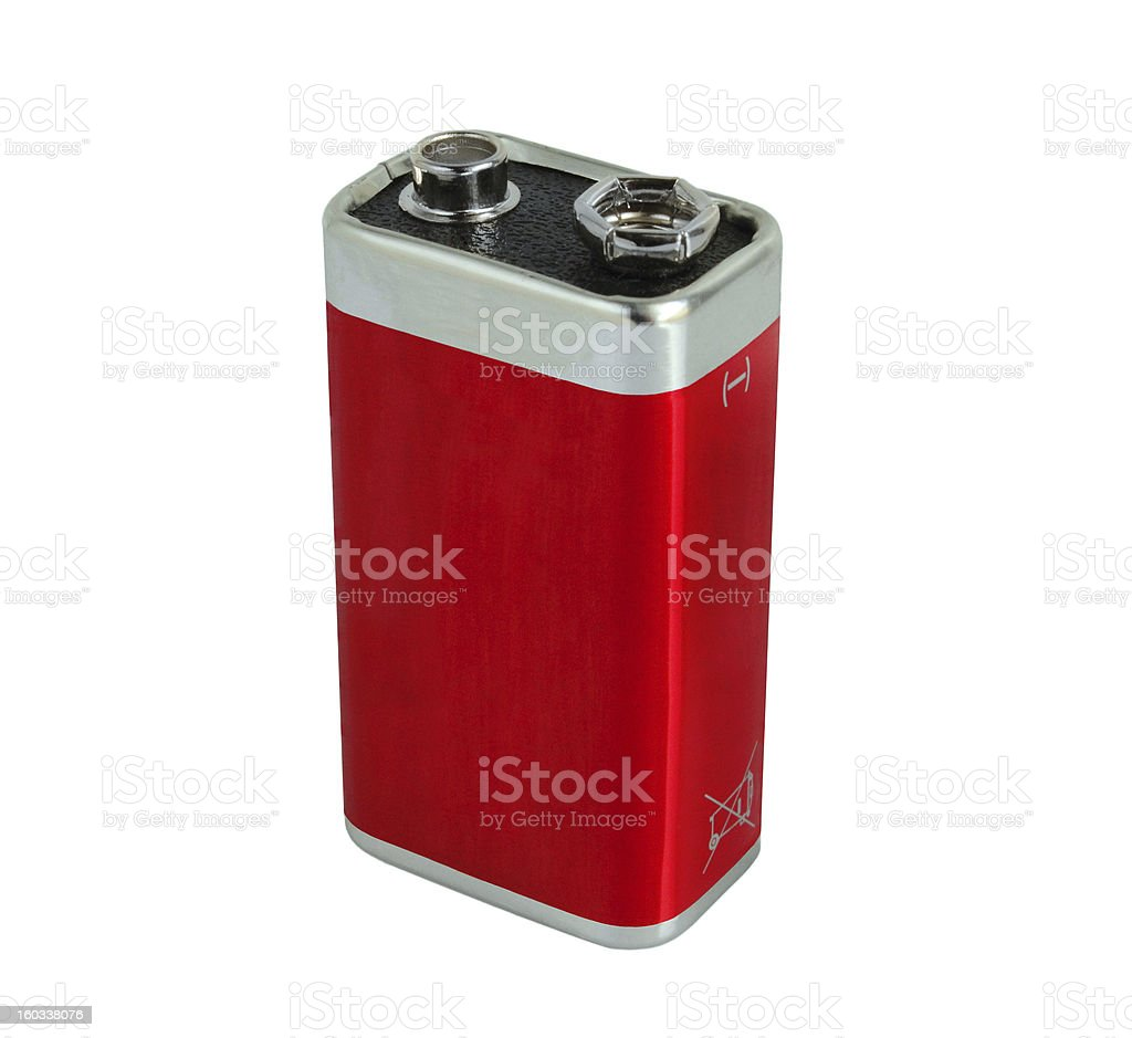 Red battery stock photo