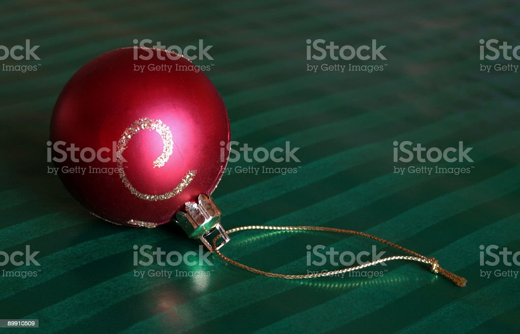 Red Bauble Ornament royalty-free stock photo