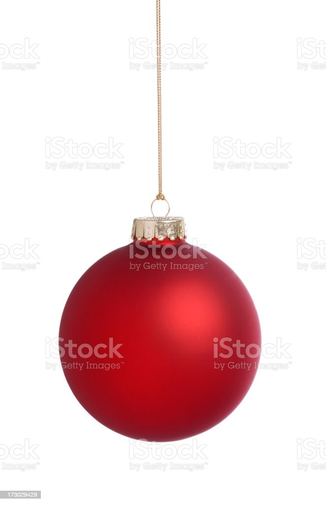 Red Bauble (XXL) royalty-free stock photo