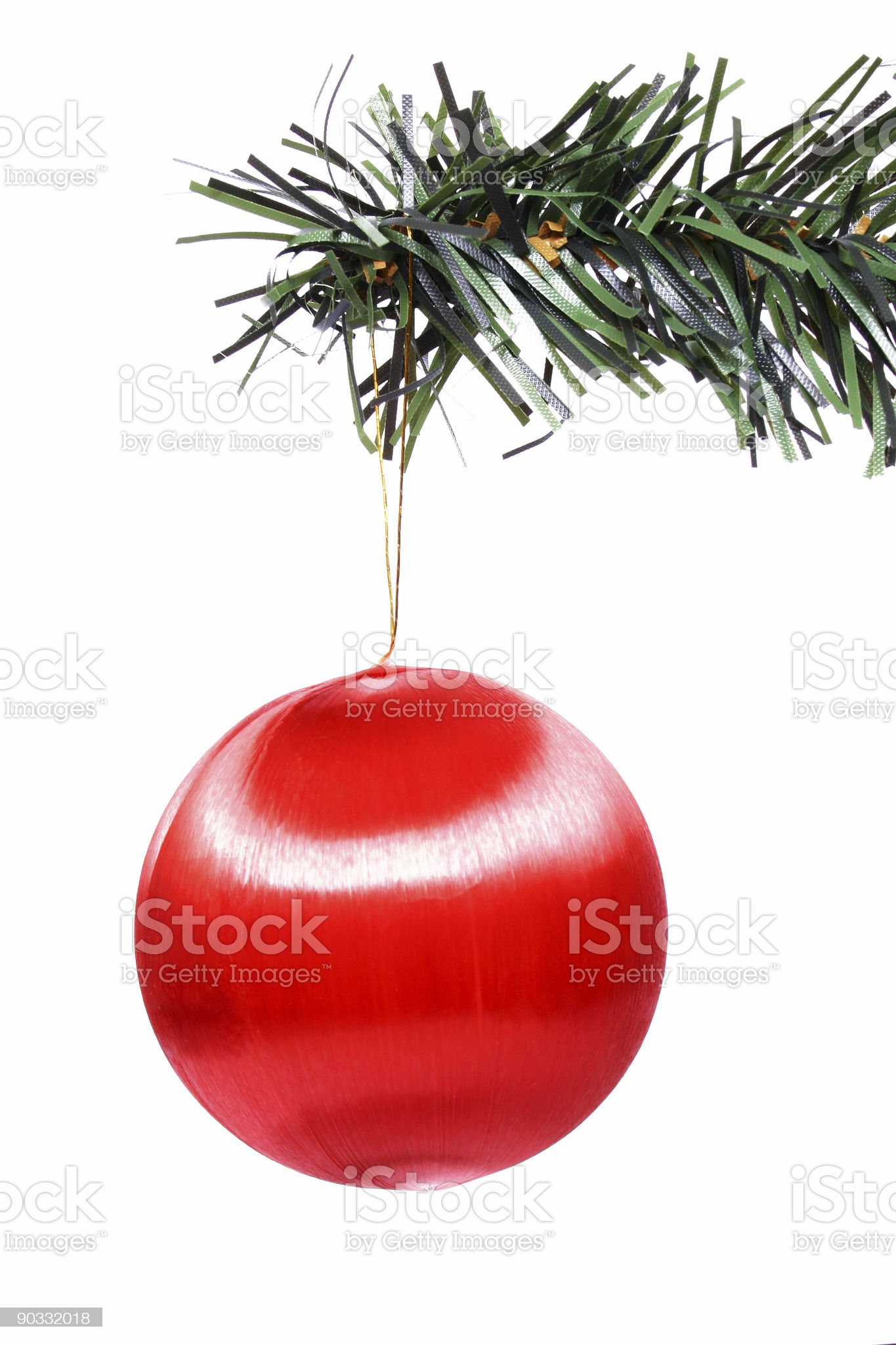 Red Bauble royalty-free stock photo