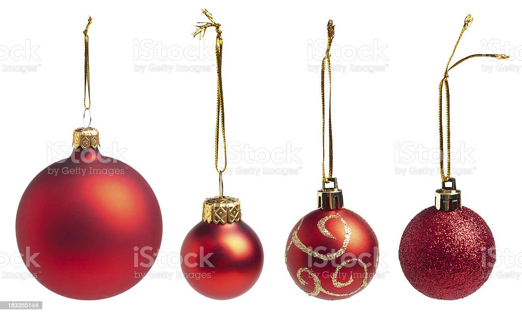 Red Baubles royalty-free stock photo