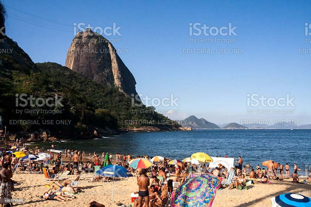 Praia Vermelha royalty-free stock photo