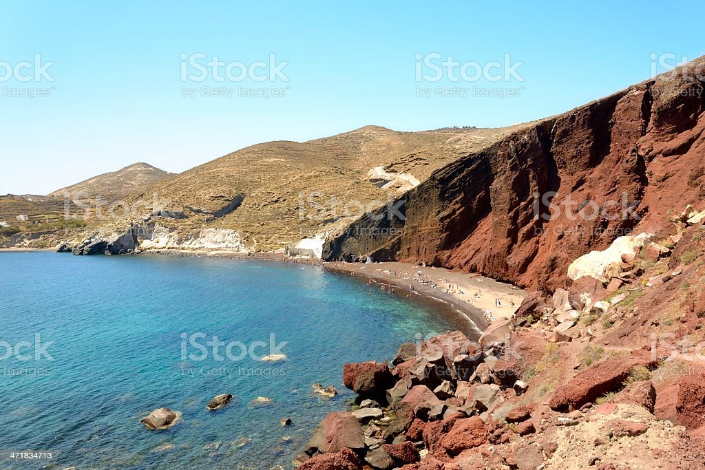 Red beach royalty-free stock photo