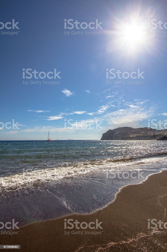 Red beach, Santorini, Greece stock photo