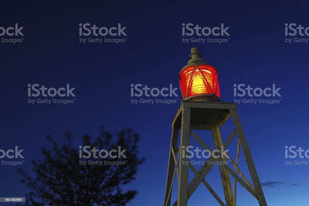 Red Beacon royalty-free stock photo