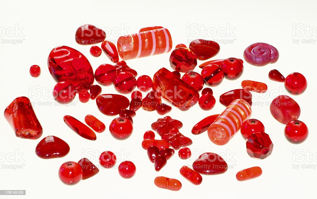 Red Beads royalty-free stock photo