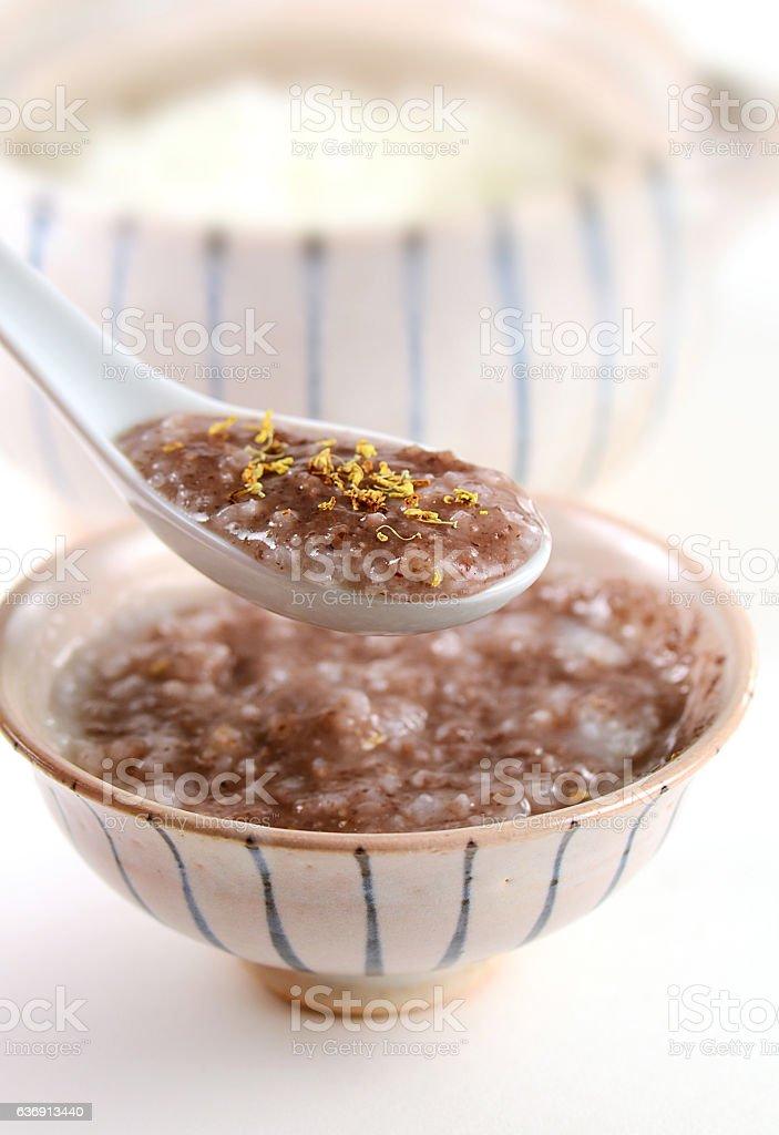 Red Bean Congee stock photo
