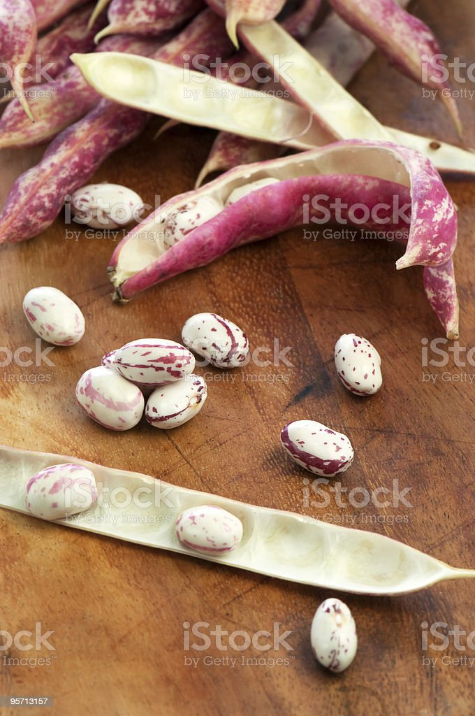 Red beans and pods royalty-free stock photo