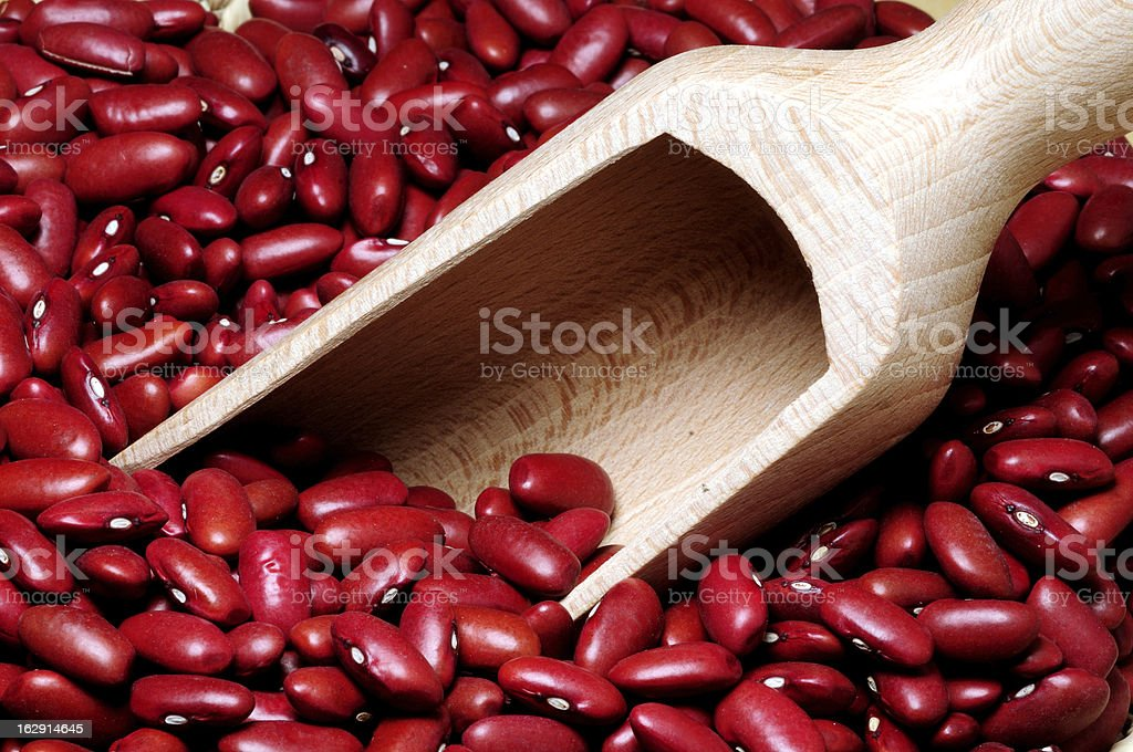 Red beans in a basket royalty-free stock photo