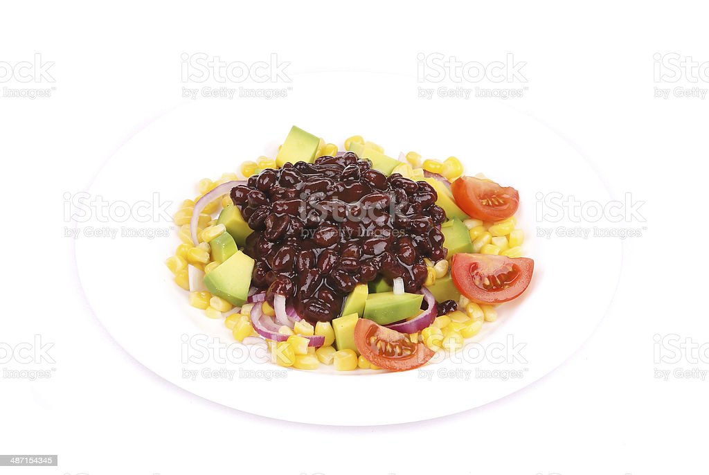 Red beans salad. royalty-free stock photo