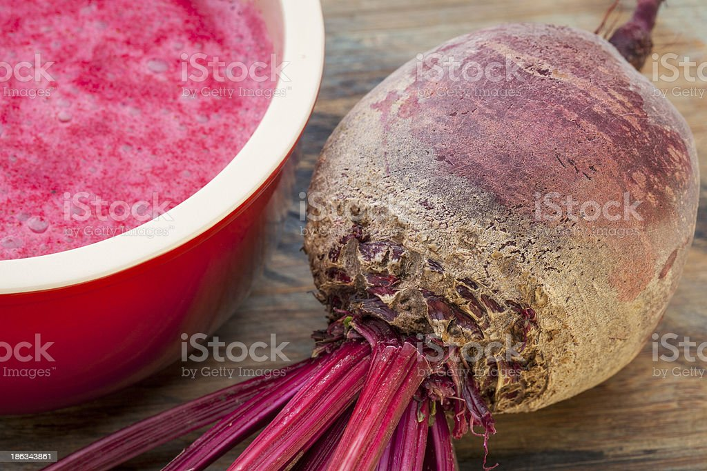 red beet cream soup royalty-free stock photo