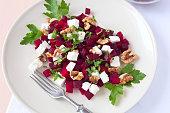 Red beet salad.