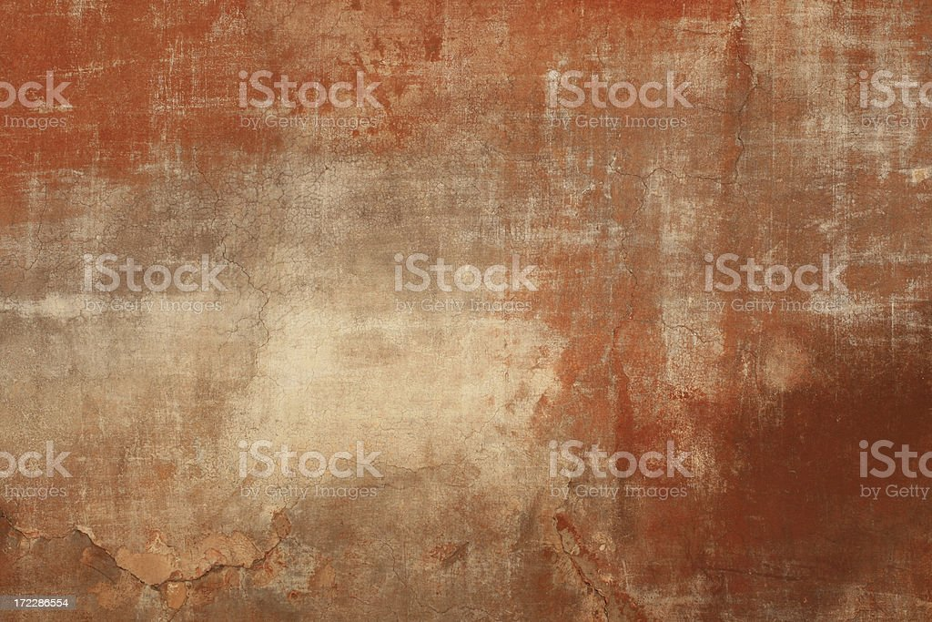 Red beige Roman grunge wall texture, Rome Italy royalty-free stock photo