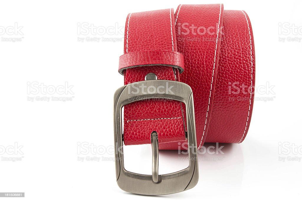 Red belf for lady stock photo