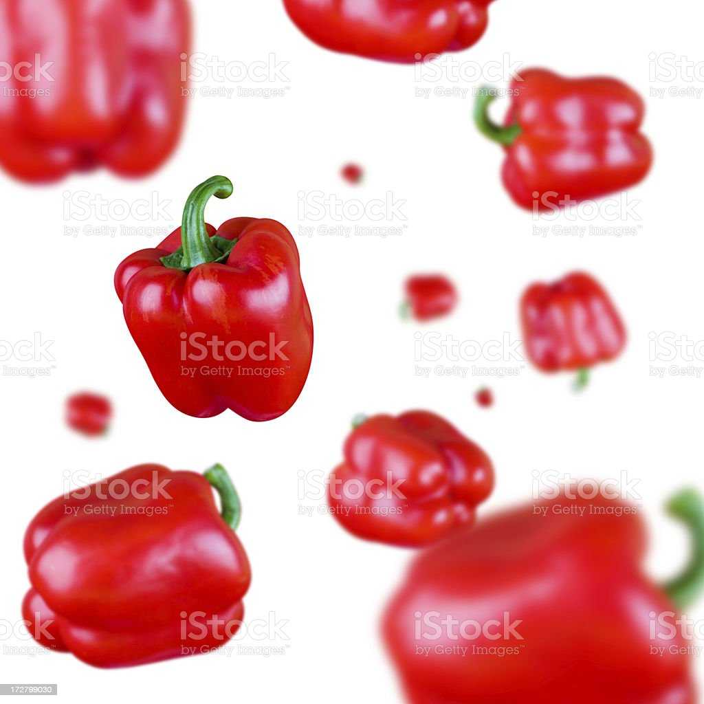 Red bell pepper explosion royalty-free stock photo