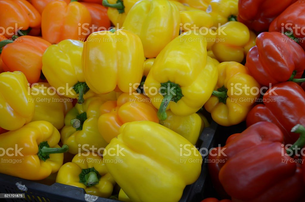 Red Bell Peppers royalty-free stock photo