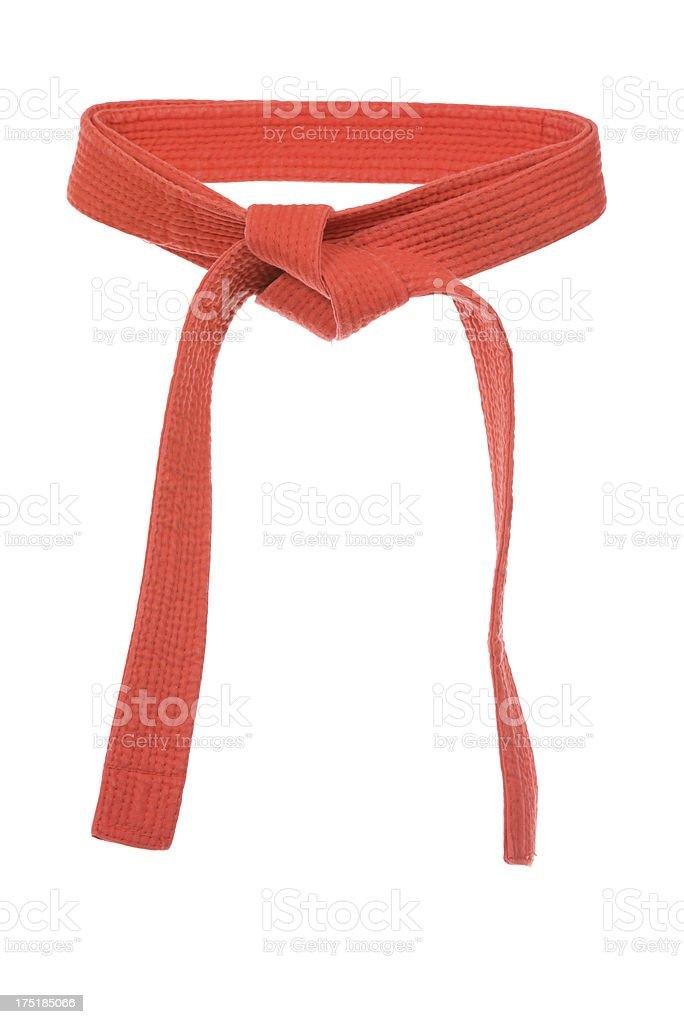 Red Belt stock photo