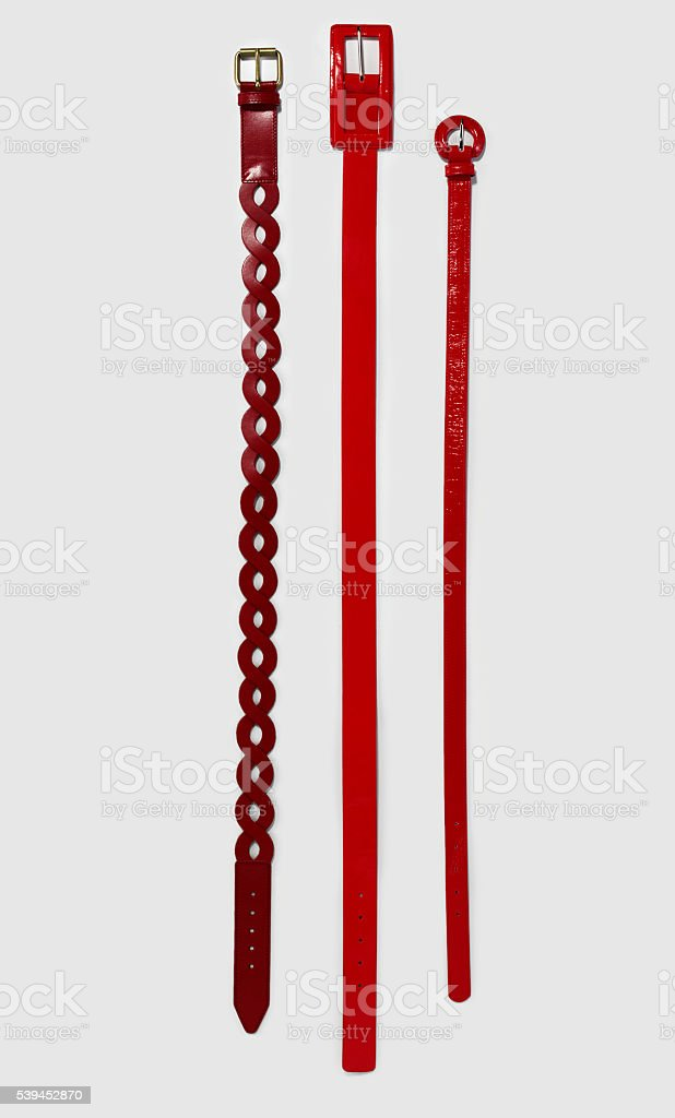 red belts stock photo