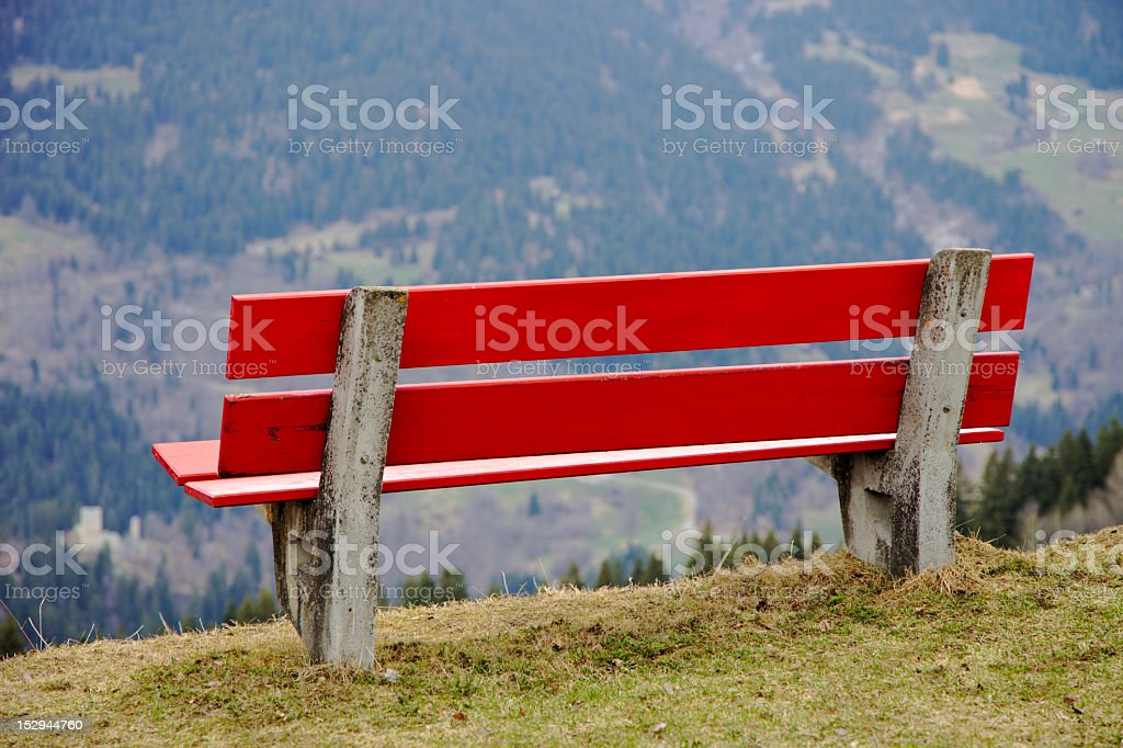 Red Bench (XXXL) royalty-free stock photo
