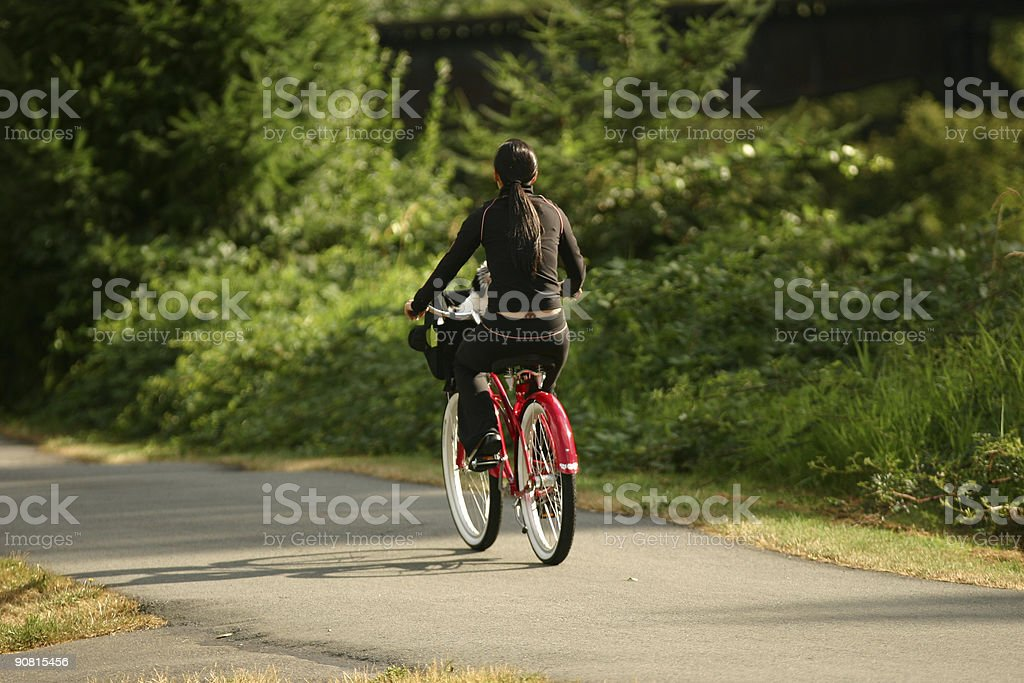 Red Bicycle stock photo