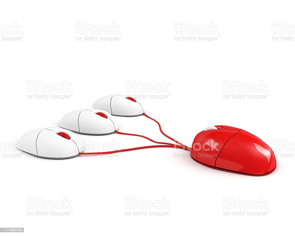 red big boss mouse royalty-free stock photo