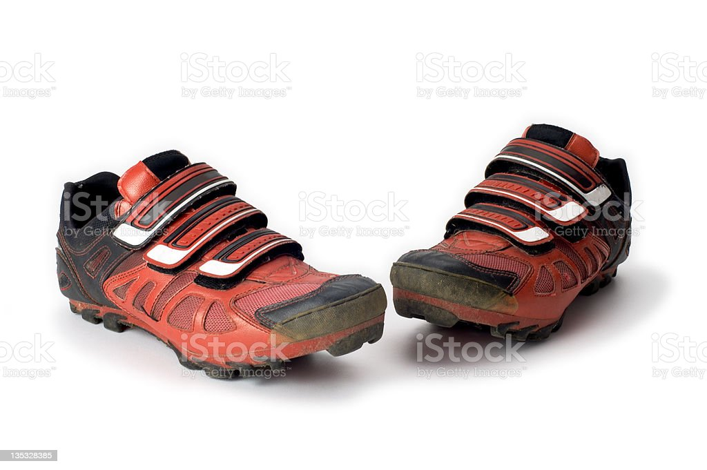 Red Bike Shoes royalty-free stock photo