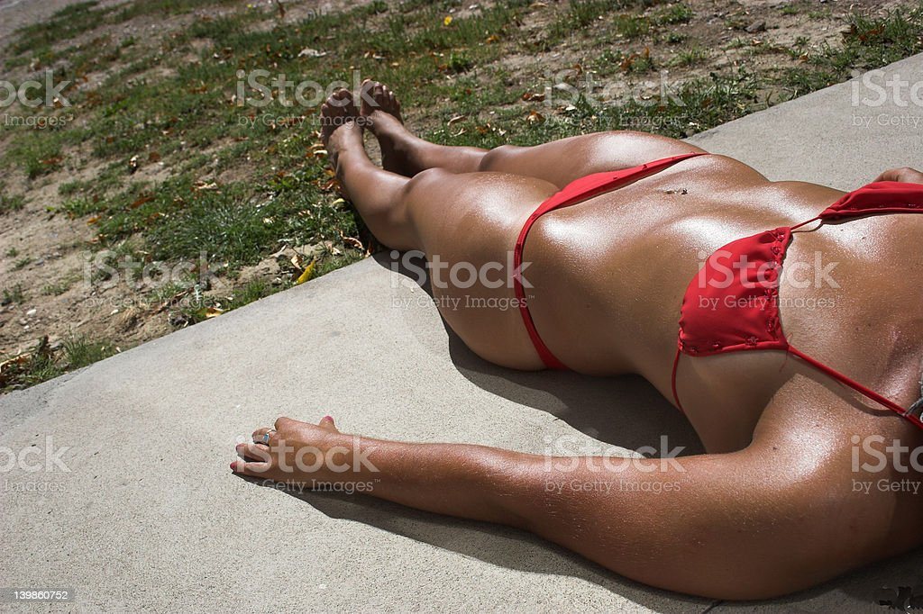 red bikini royalty-free stock photo