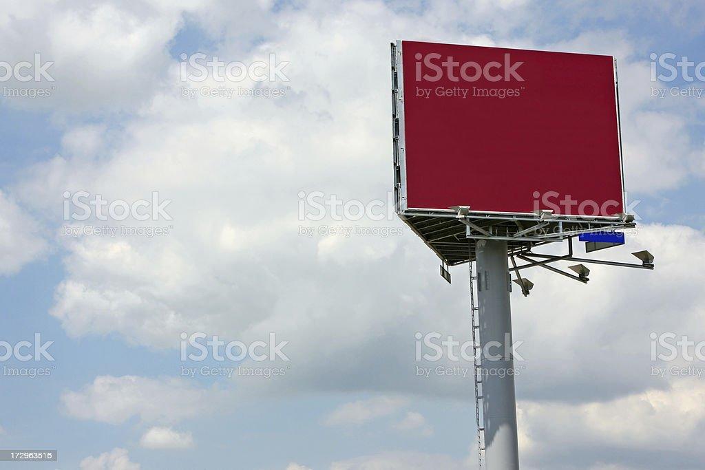 Red billboard # 6 XL royalty-free stock photo