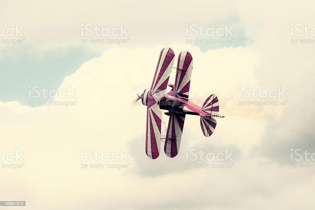 Red Biplane royalty-free stock photo