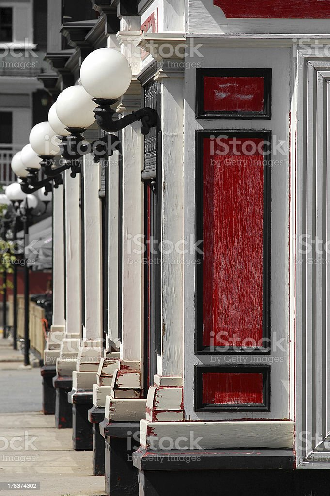 Red bistro royalty-free stock photo