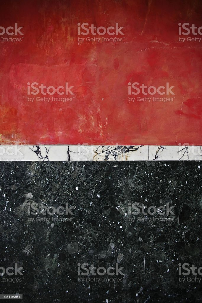 Red & Black marble wall royalty-free stock photo