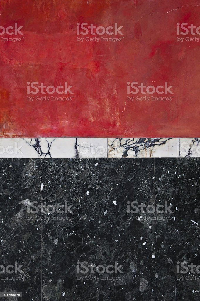 Red & Black marble wall XXL royalty-free stock photo