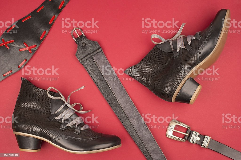 Red & Black royalty-free stock photo