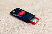 Red black USB memory stick