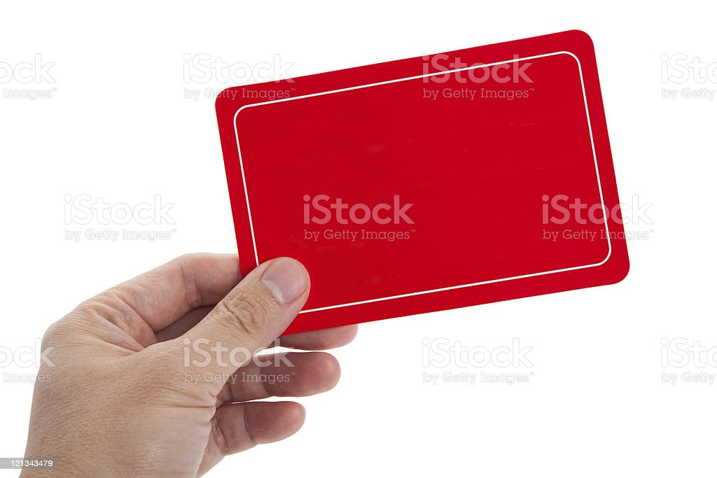Red Blank Card royalty-free stock photo