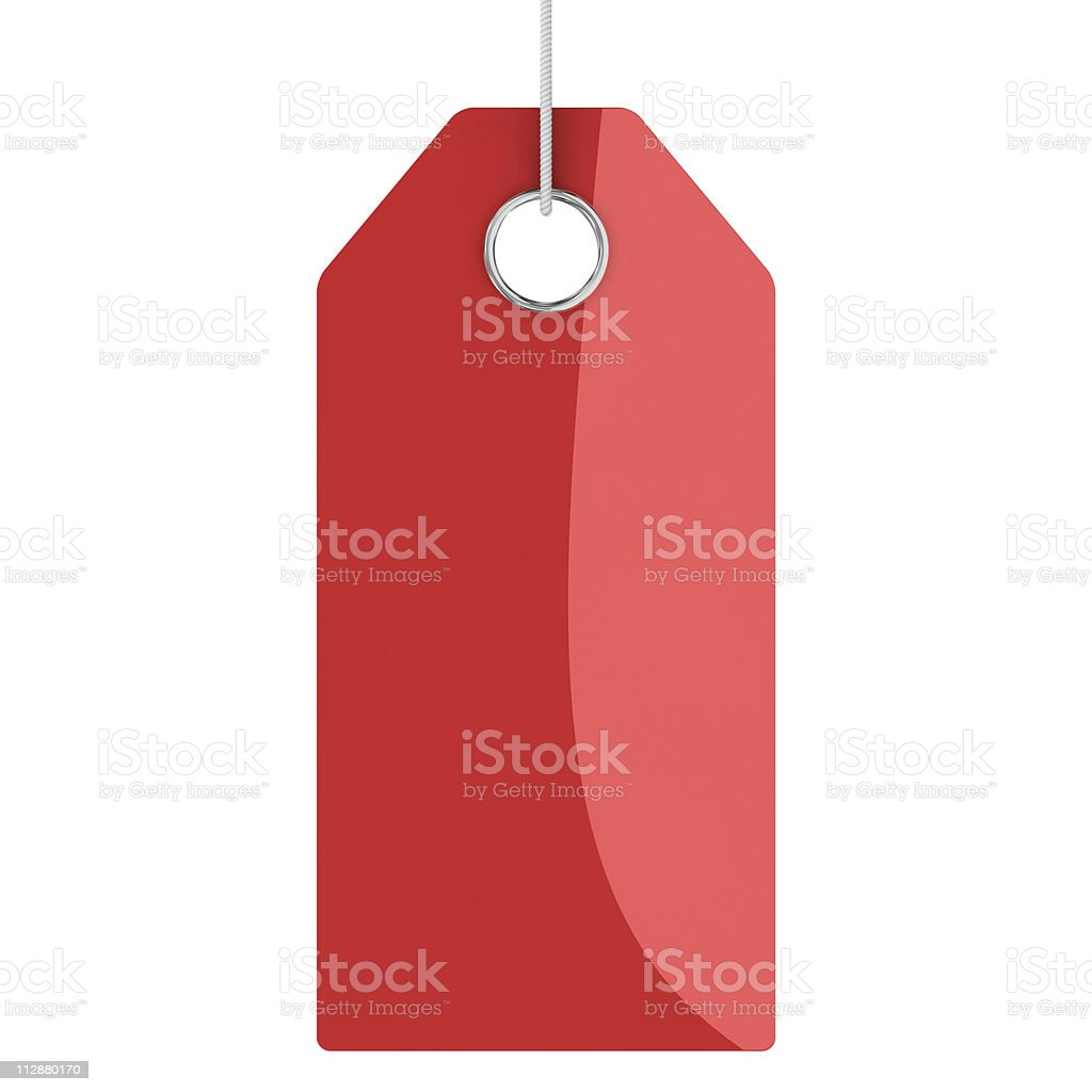 Red blank price tag royalty-free stock vector art
