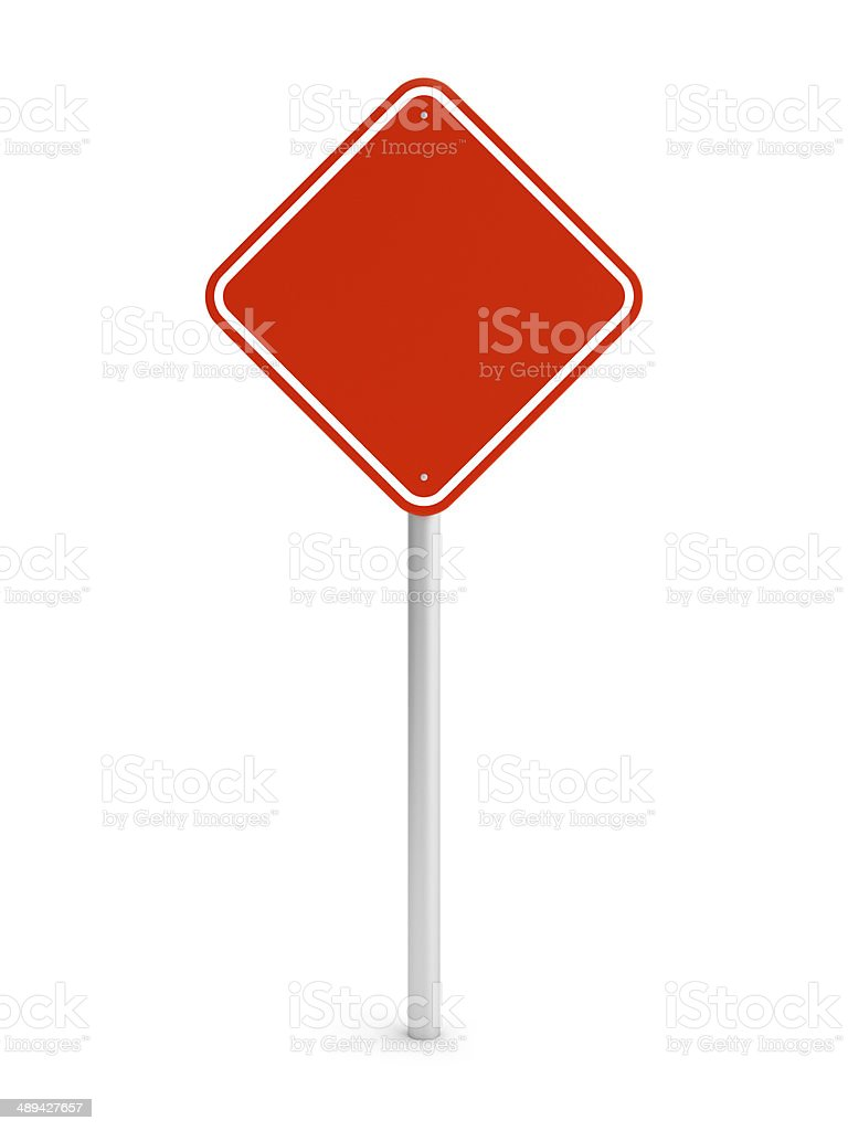 Red blank rectangle traffic sign royalty-free stock photo