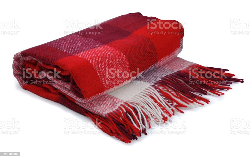 Red blanket stock photo