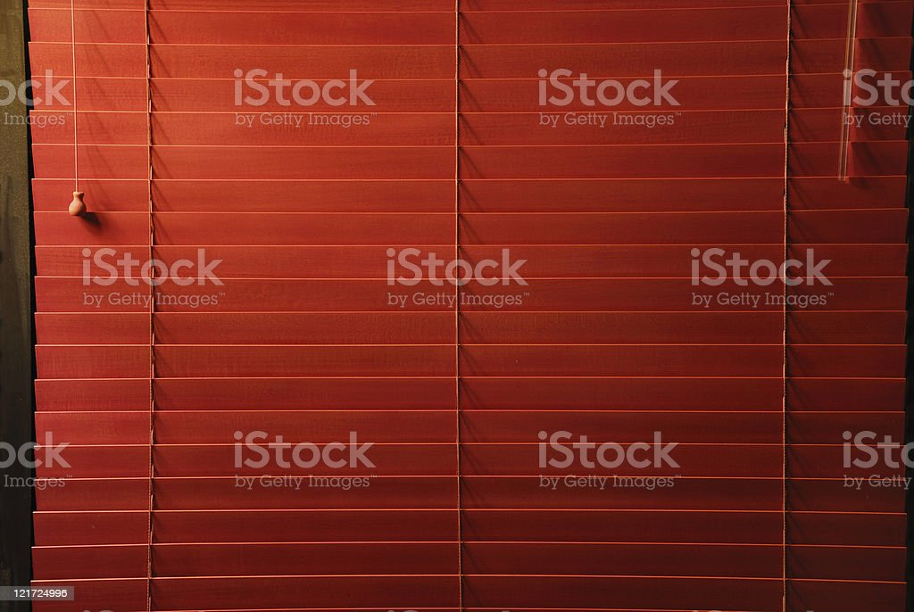 Red Blinds royalty-free stock photo